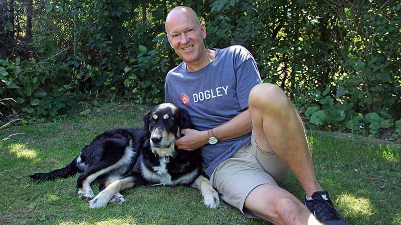 Thomas Kastrup og hunden Molly