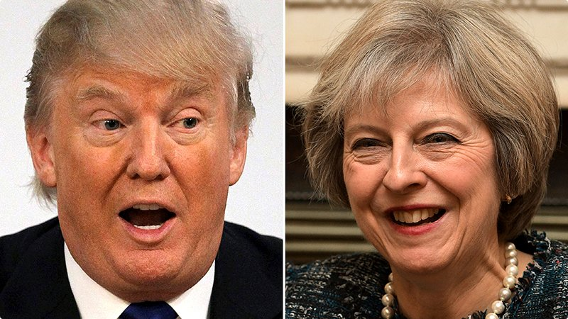 Trump og Theresa May
