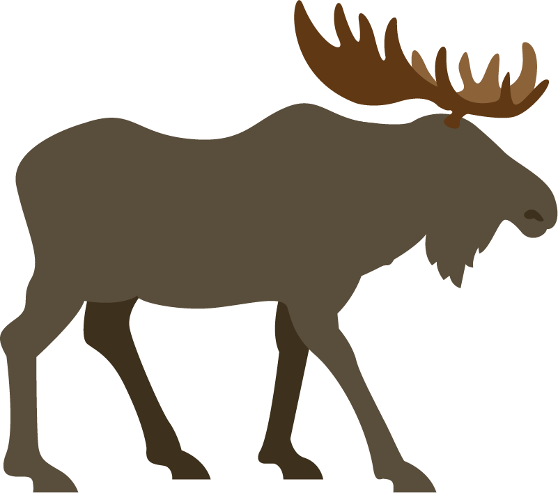 An illustration of a moose